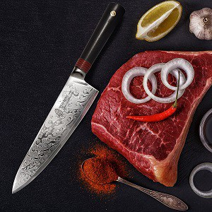 TUO Damascus Chef's Knife review