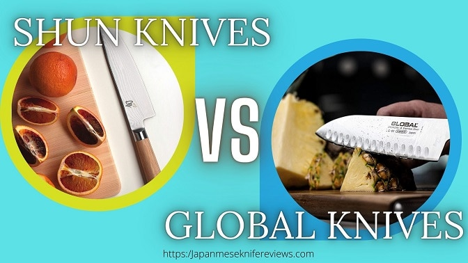 Shun Vs Global knives comparison